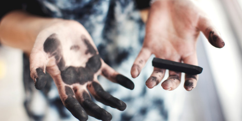 how to get charcoal stain out of clothes
