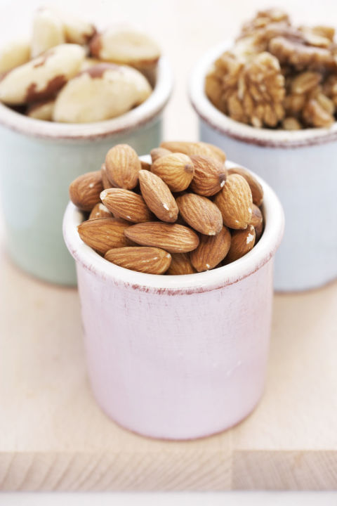 Yes, they are fattening: A handful of peanuts is about 165 calories. But research shows that people who snack on nuts tend to be slimmer than those who don't. A study from Purdue University found that when a group of 15 normal-weight people added about 500 calories worth of peanuts to their regular diet, they consumed less at subsequent meals. The participants also revved up their resting metabolism by 11 percent, which means they burned more calories even when relaxing.<br /> Health bonus: Walnuts contain omega-3 fatty acids. And researchers at Loma Linda University recently found that eating 10 to 20 whole pecans daily can reduce heart disease risks.<br />