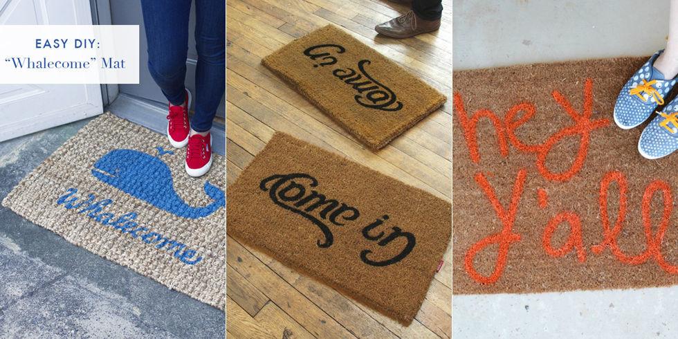 & Funny Doormats - DIY Welcome Mats