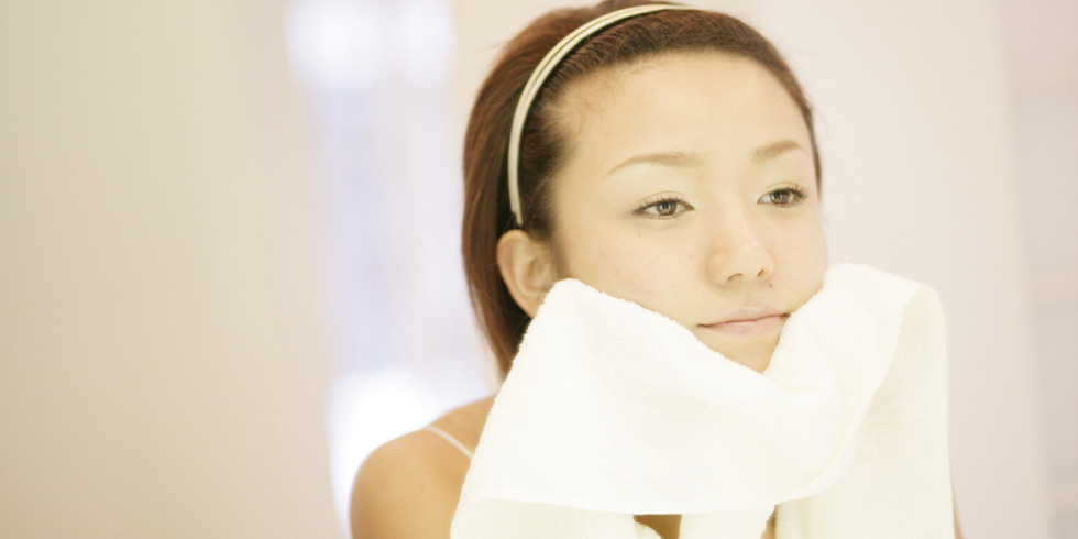 how to get rid of smell in washcloths