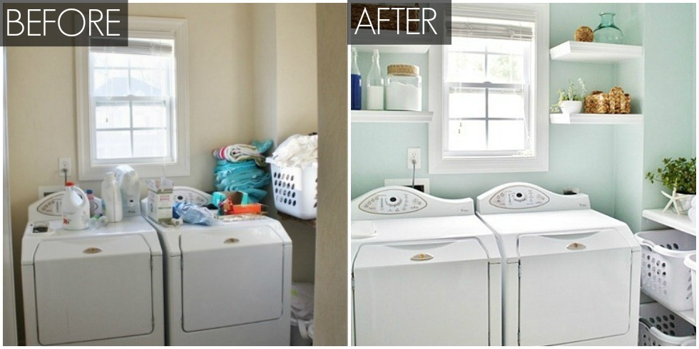 home organizing tips laundry room makeovers