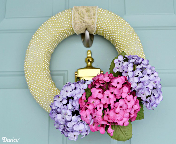 Spring Door Wreath Ideas Part - 15: Pearls And Petals