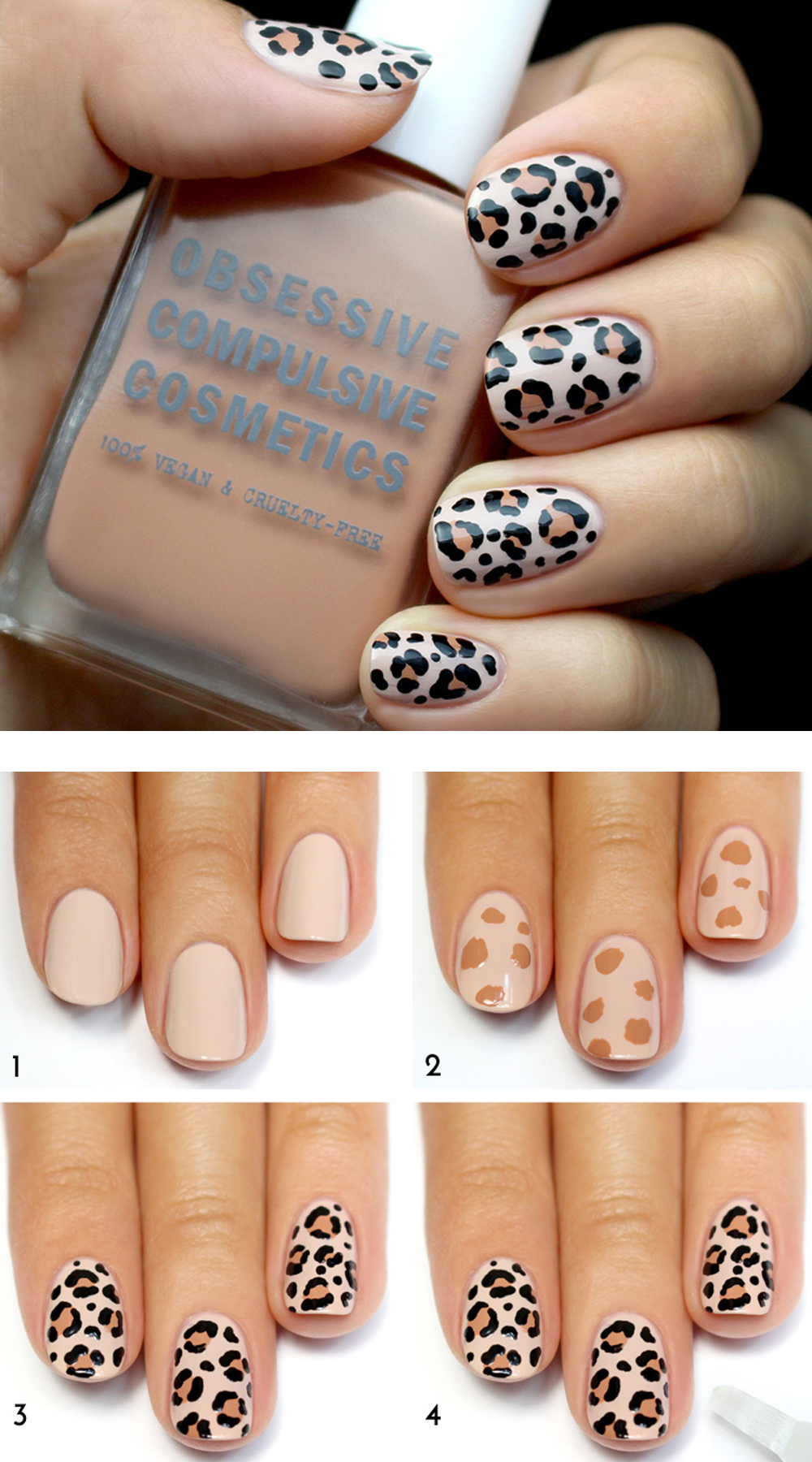 This chic nail art is easy to recreate with just a bit of will and  patience. Aren't the end results fabulous? The younger crowd will love this  animal ... - 25 Easy Nail Art Designs (Tutorials) For Beginners - 2019 Update