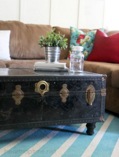 Unique coffee table ideas coffee table alternatives for How to turn a trunk into a coffee table