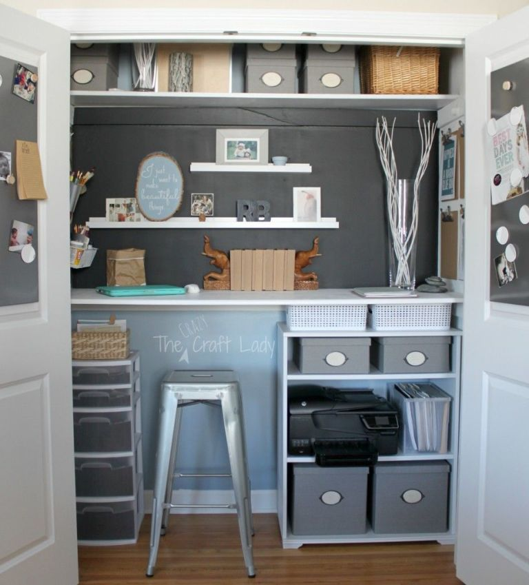Surprising Small Office Organizing Ideas Closet Office Makeover Largest Home Design Picture Inspirations Pitcheantrous