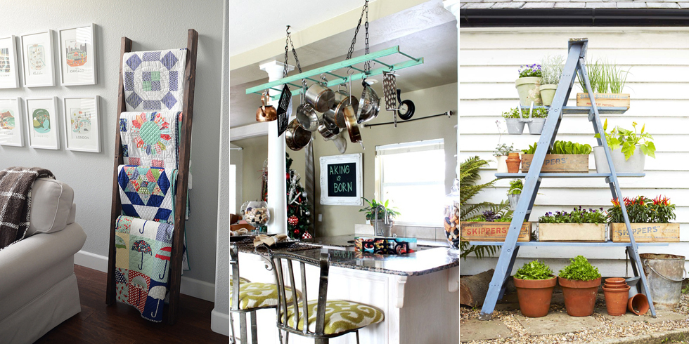 How To Decorate With Vintage Ladders   Ways To Organize With Old Ladders
