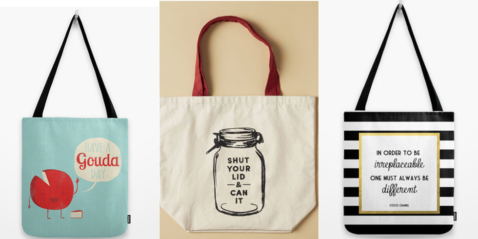 Tote Bags With Quotes - Reusable Bags With Funny and Smart Sayings