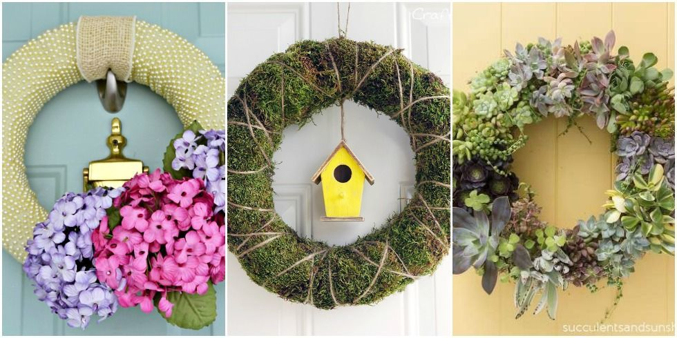 15 diy spring wreaths ideas for spring front door for Home decorations to make