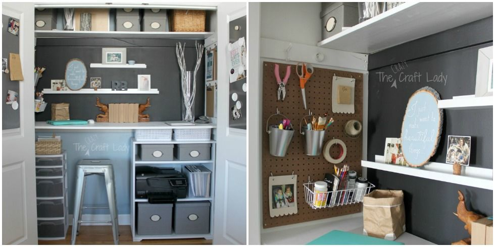 Peachy Small Office Organizing Ideas Closet Office Makeover Largest Home Design Picture Inspirations Pitcheantrous
