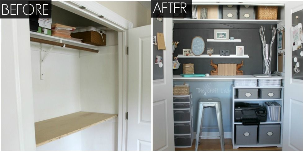 Pleasing Small Office Organizing Ideas Closet Office Makeover Largest Home Design Picture Inspirations Pitcheantrous