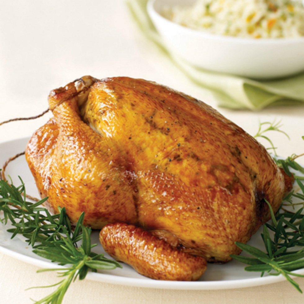 Lemon-Pepper Roasted Chicken Recipe