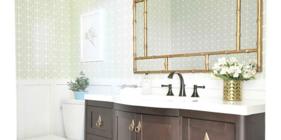 Before and after a builder grade bathroom gets major for Good housekeeping bathroom ideas