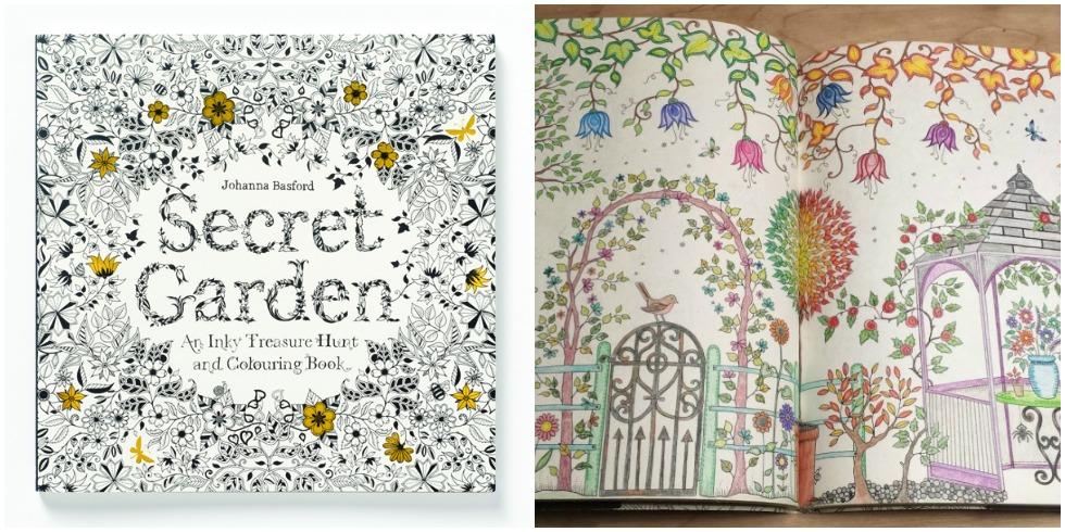 Adult coloring books johanna basford secret garden for Secret garden adult coloring book