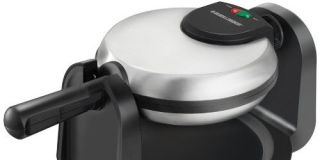 black and decker brushed stainless steel belgian waffle maker review - Waring Pro Waffle Maker