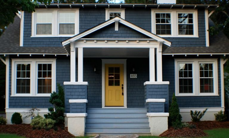 Wondrous Blue Home Exterior Makeover Curb Appeal Ideas Largest Home Design Picture Inspirations Pitcheantrous