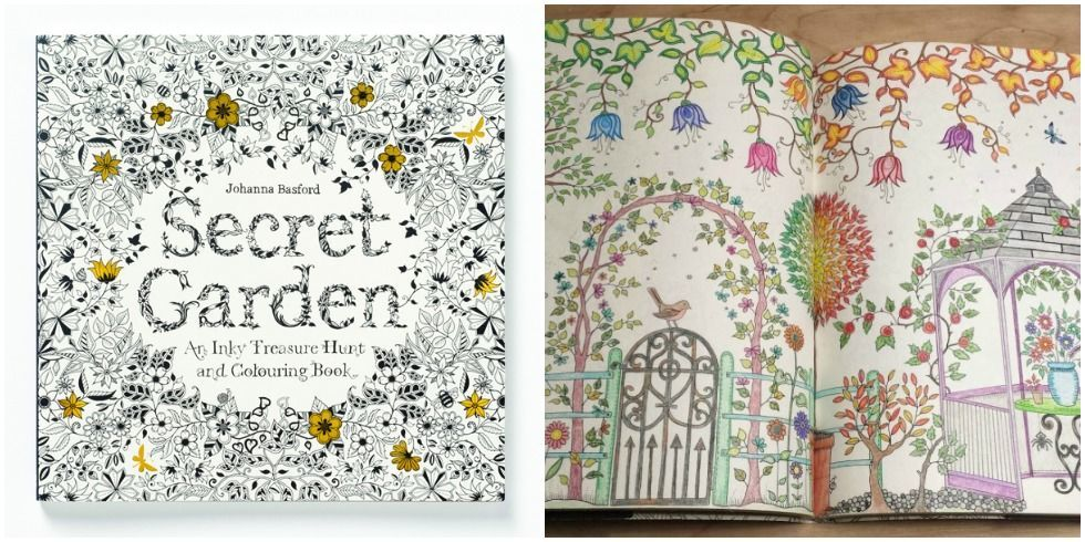 Decorating Garden Coloring Book