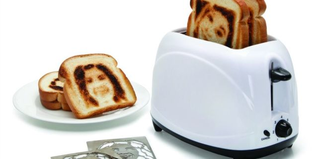 Lime green kettle toaster set