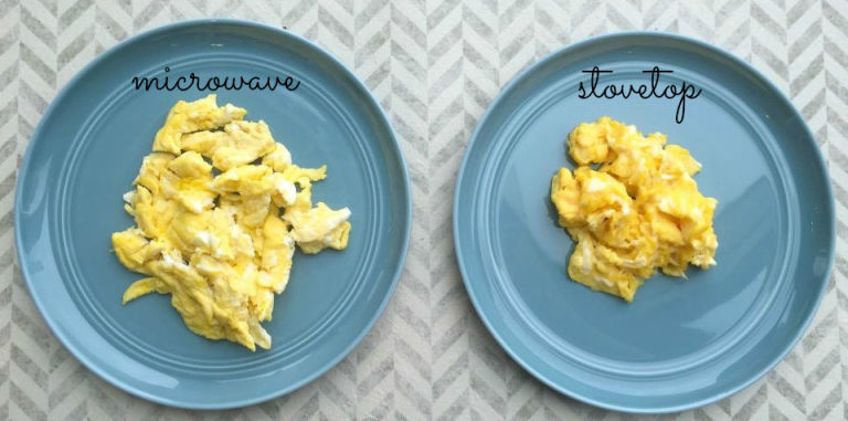 how to make scrambled eggs in microwave easy