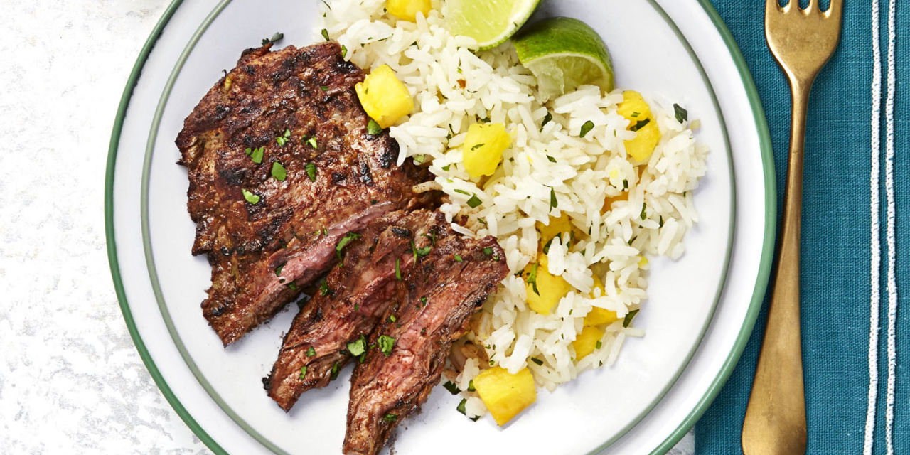 Chili Steak with Hawaiian Rice Recipe