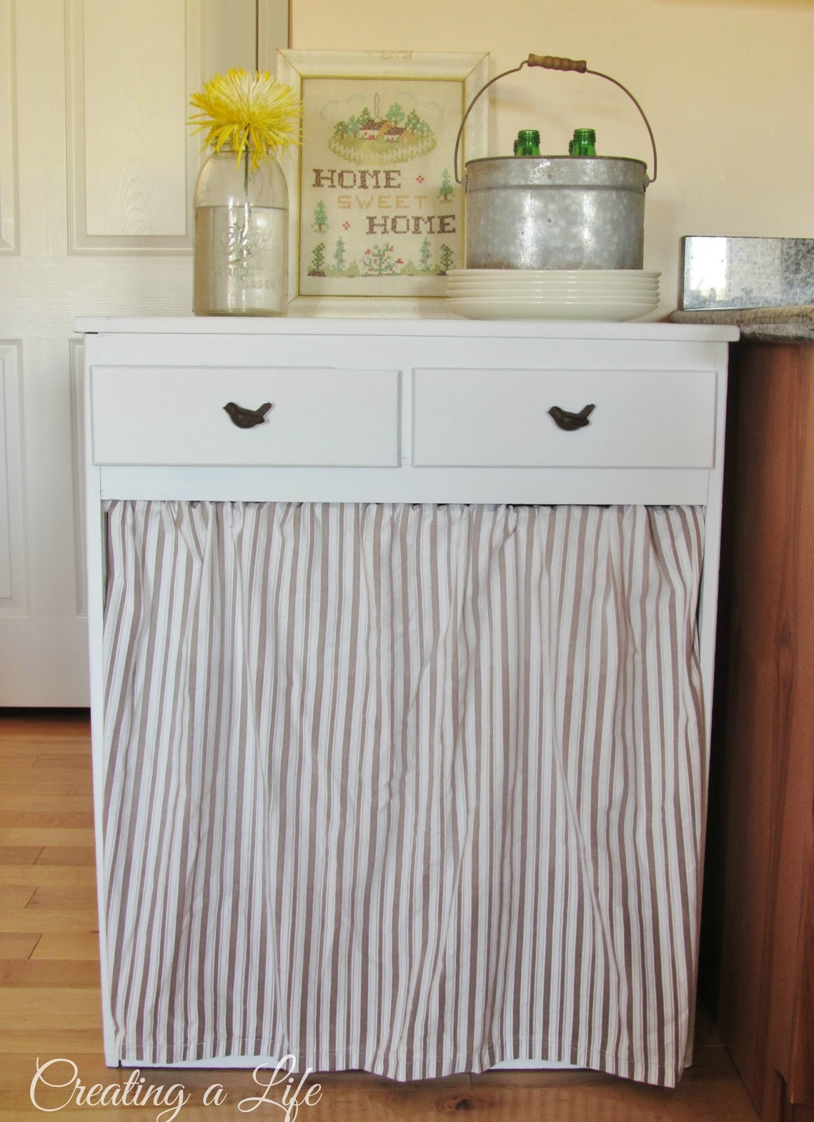 Kitchen Cabinet Garbage Drawer How To Hide A Trash Can Disguise Ugly Garbage Can