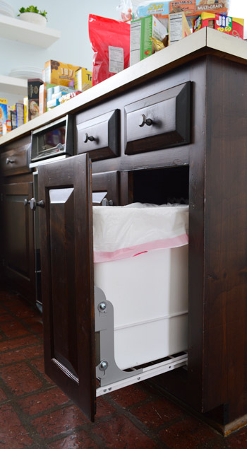 dedicate a cabinet - Kitchen Trash Can Ideas
