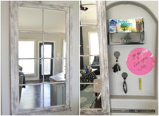 9 trucchi per nascondere gli oggetti di valore dentro casa fai da te creativo - Specchio per porta ...