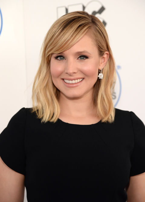 Not only does Kristen Bell's sandy hair color flatter most skin tones, but her shoulder-length bob works for nearly any face shape.