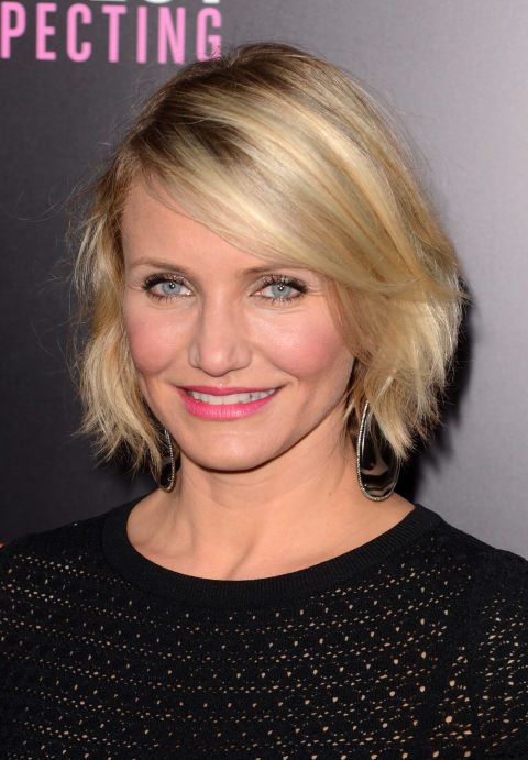 To add some sexy movement into your hair, ask your stylist for highlights and lowlights like Cameron Diaz's.