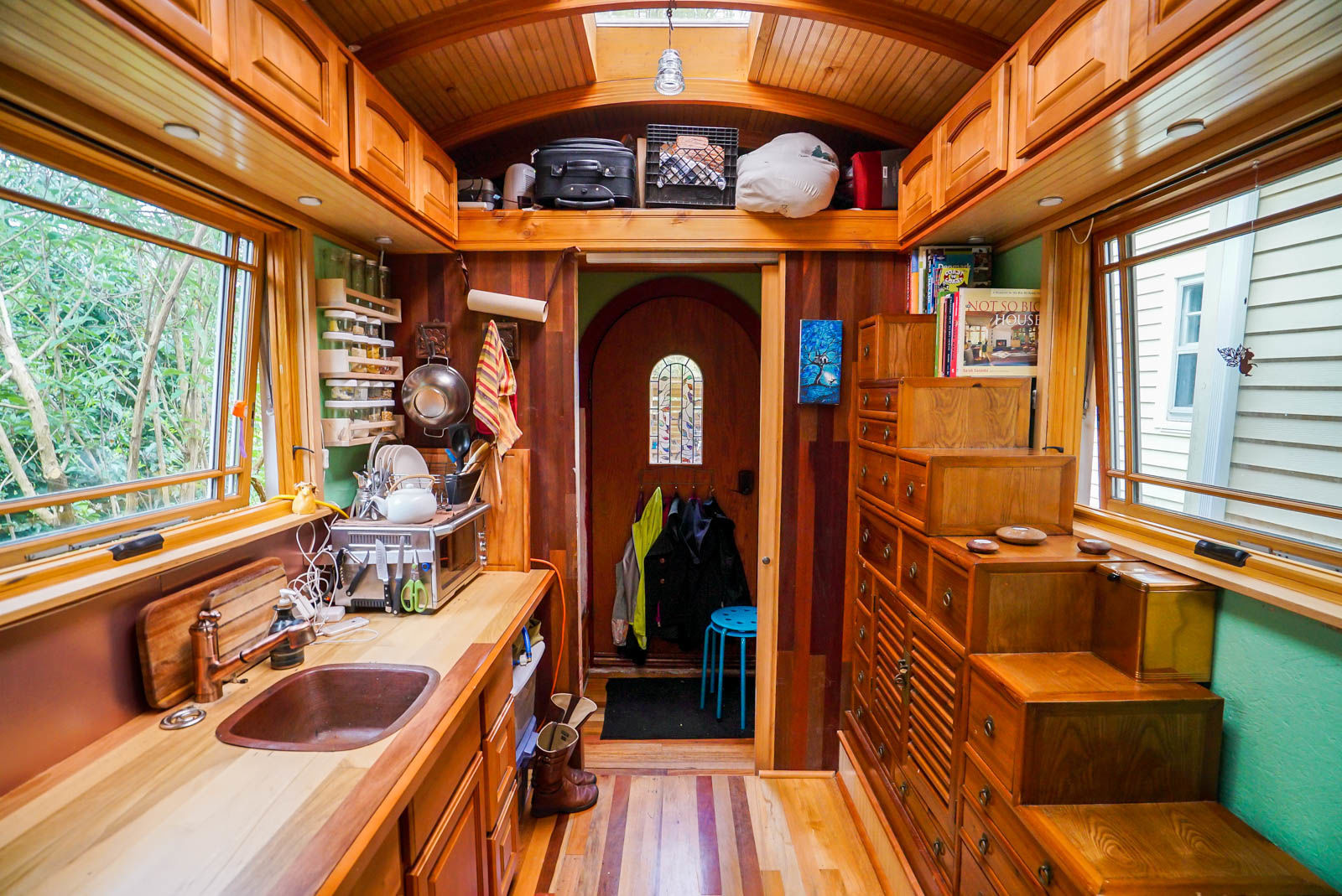 Lucky penny tiny house portland tiny house community 100 square feet house