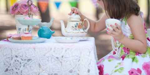 How to throw a princess tea party themed kids 39 birthday Cinderella afternoon tea