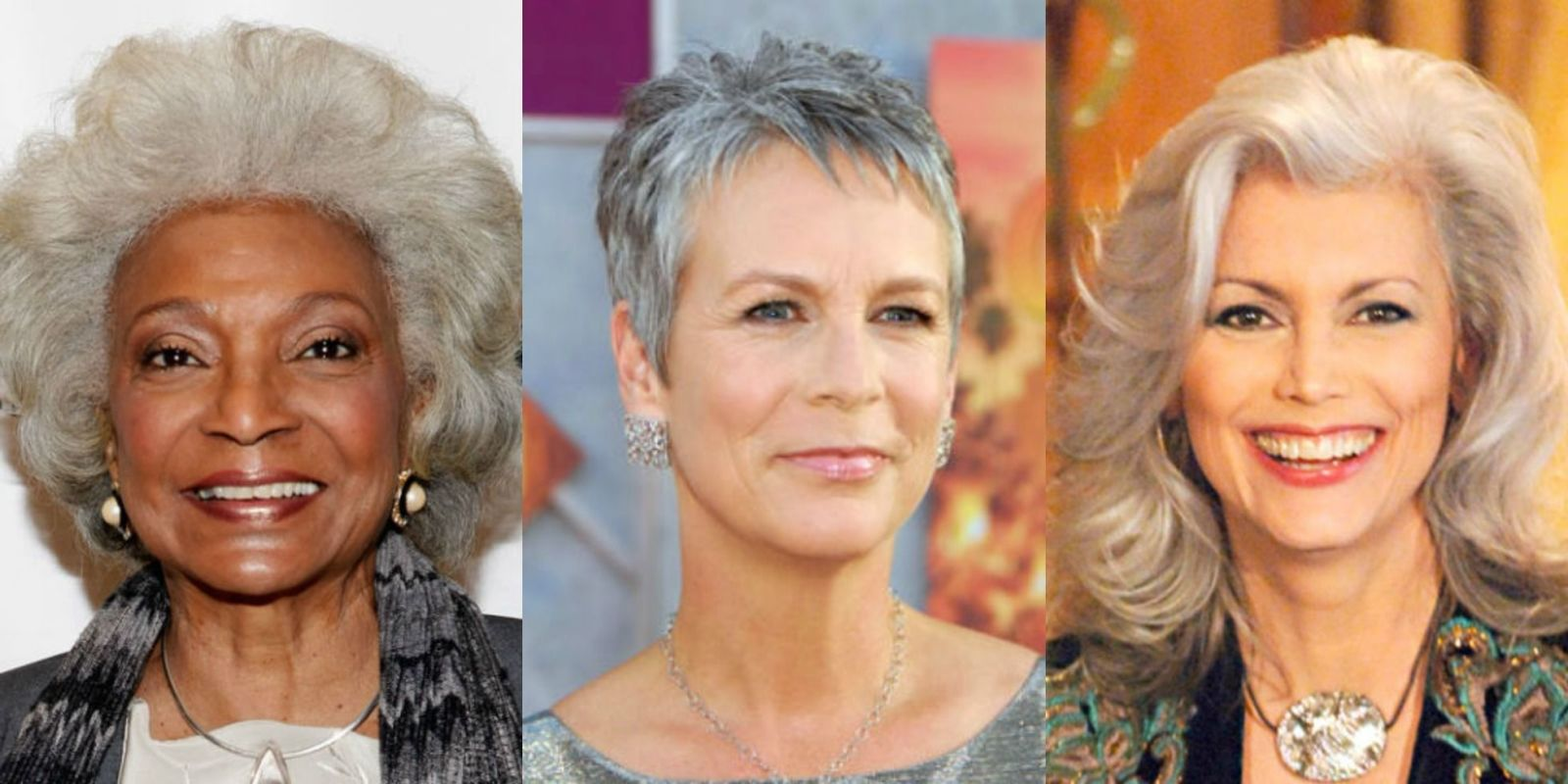 Superb 19 Gray Hairstyles Amp Haircuts Pictures Of Gray Hair On Celebrities Hairstyles For Women Draintrainus