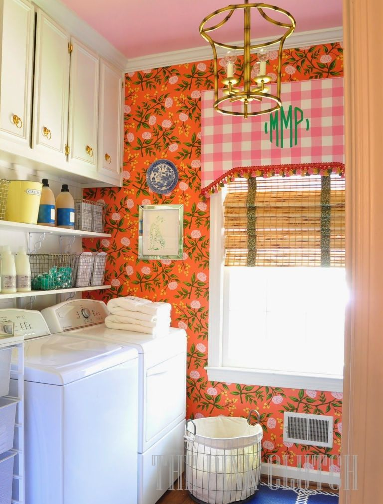 Myth  Laundry Rooms Are Meant To Be Powder Blue Or Mint Green The Pink Clutch More From Diy Decorating Ideas