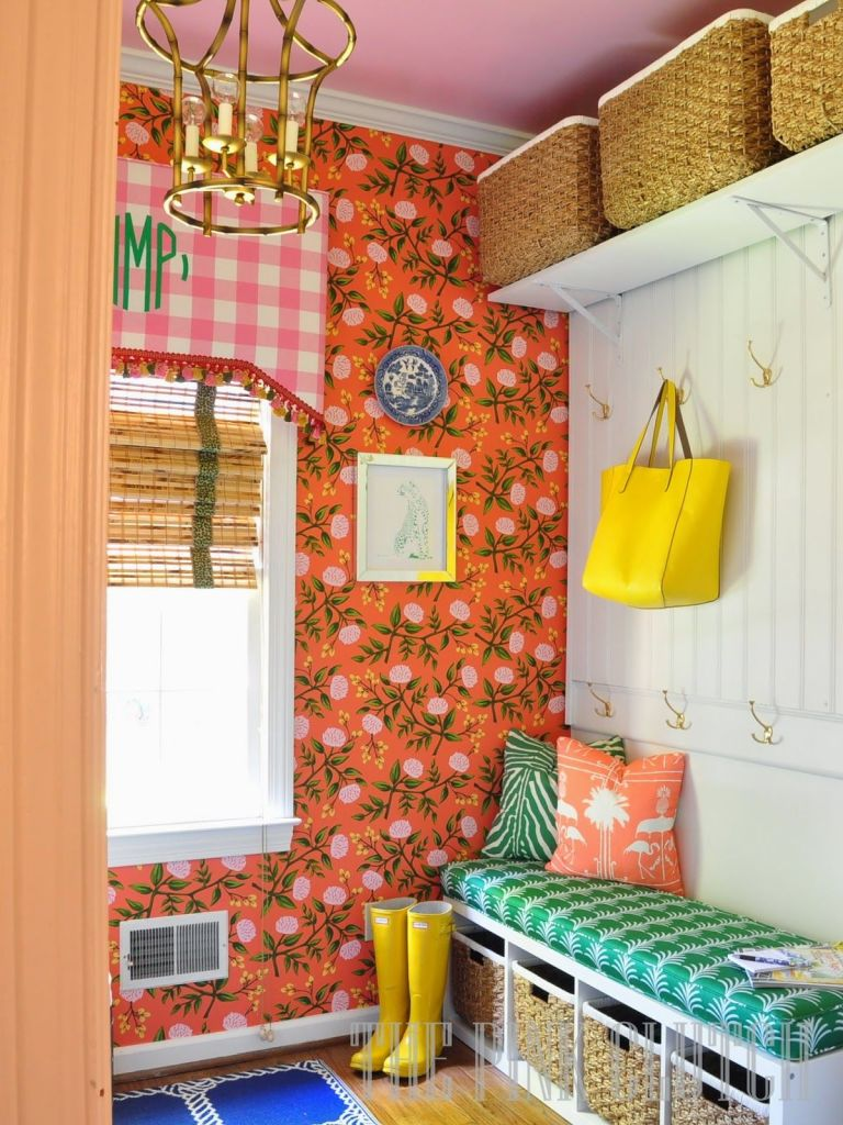 Colorful Rooms colorful laundry room makeover - laundry room decorating ideas