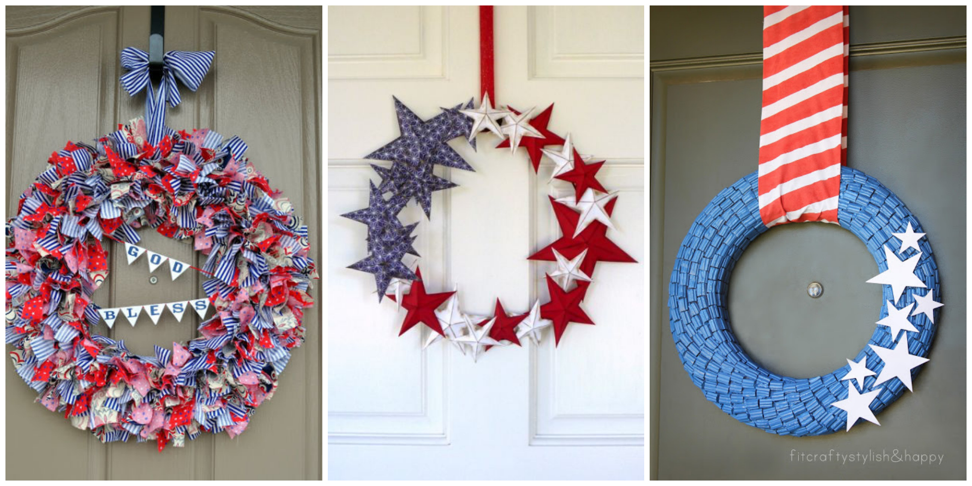 14 diy 4th of july wreaths easy ideas for fourth of july for American style christmas decorations