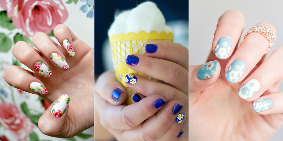 20 Flower Nail Art Ideas - Floral Manicures for Spring and Summer