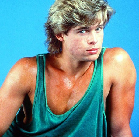 Hunky Celebs' First TV... Brad Pitt Basketball