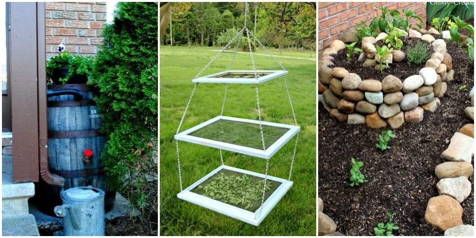 Diy garden projects functional gardening diy ideas for Homemade garden decor crafts
