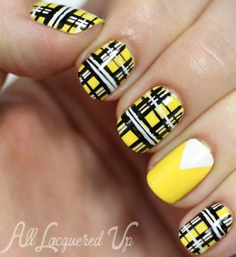 Nail art ideas for short nails manicures designs for shorter nails preppy plaid prinsesfo Images