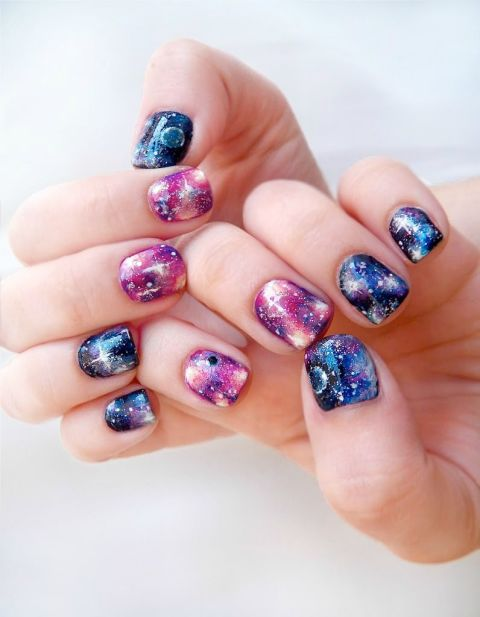 Nail art ideas for short nails manicures designs for shorter nails galaxy chic prinsesfo Gallery
