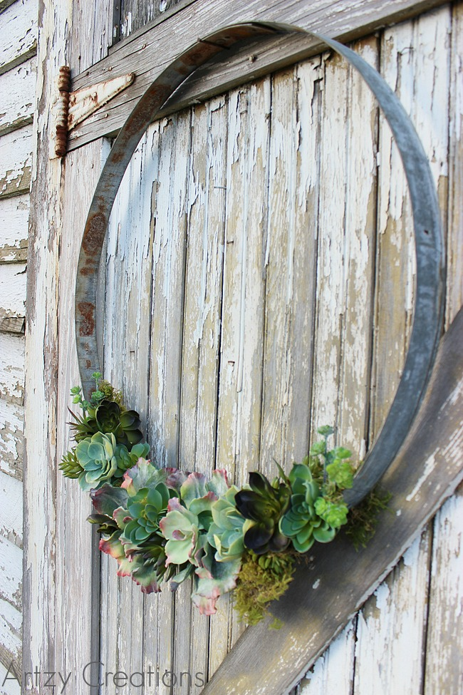 giant wreath diys oversized wreath crafts On wine barrel ring crafts