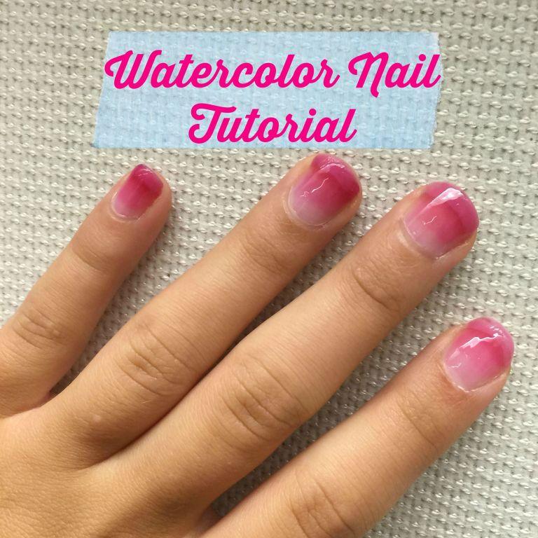 Watercolor nails tutorial how to do watercolor nail art prinsesfo Choice Image