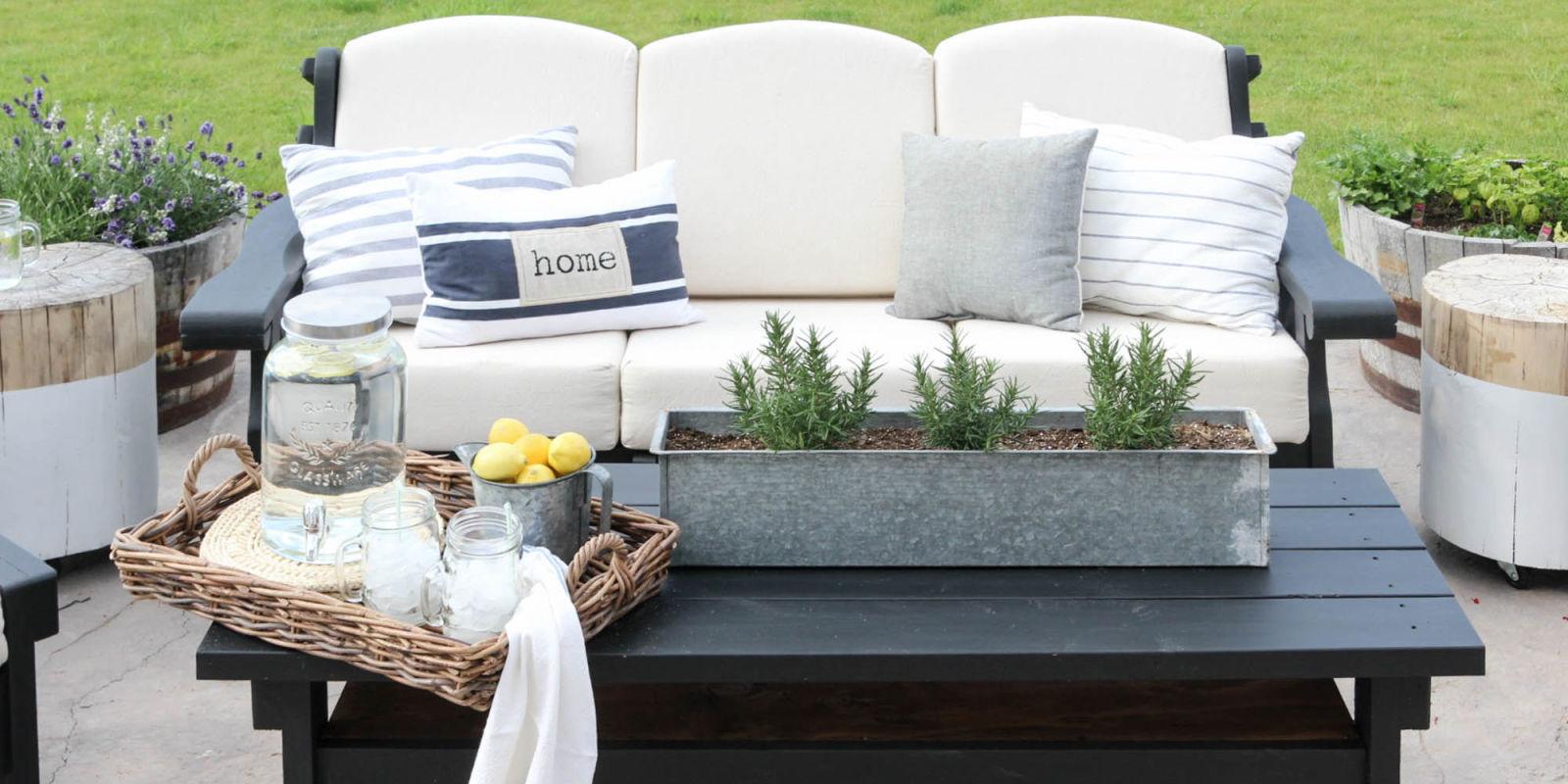 Patio Sofa Set Makeover Craigslist Furniture Makeover - Good housekeeping patio furniture