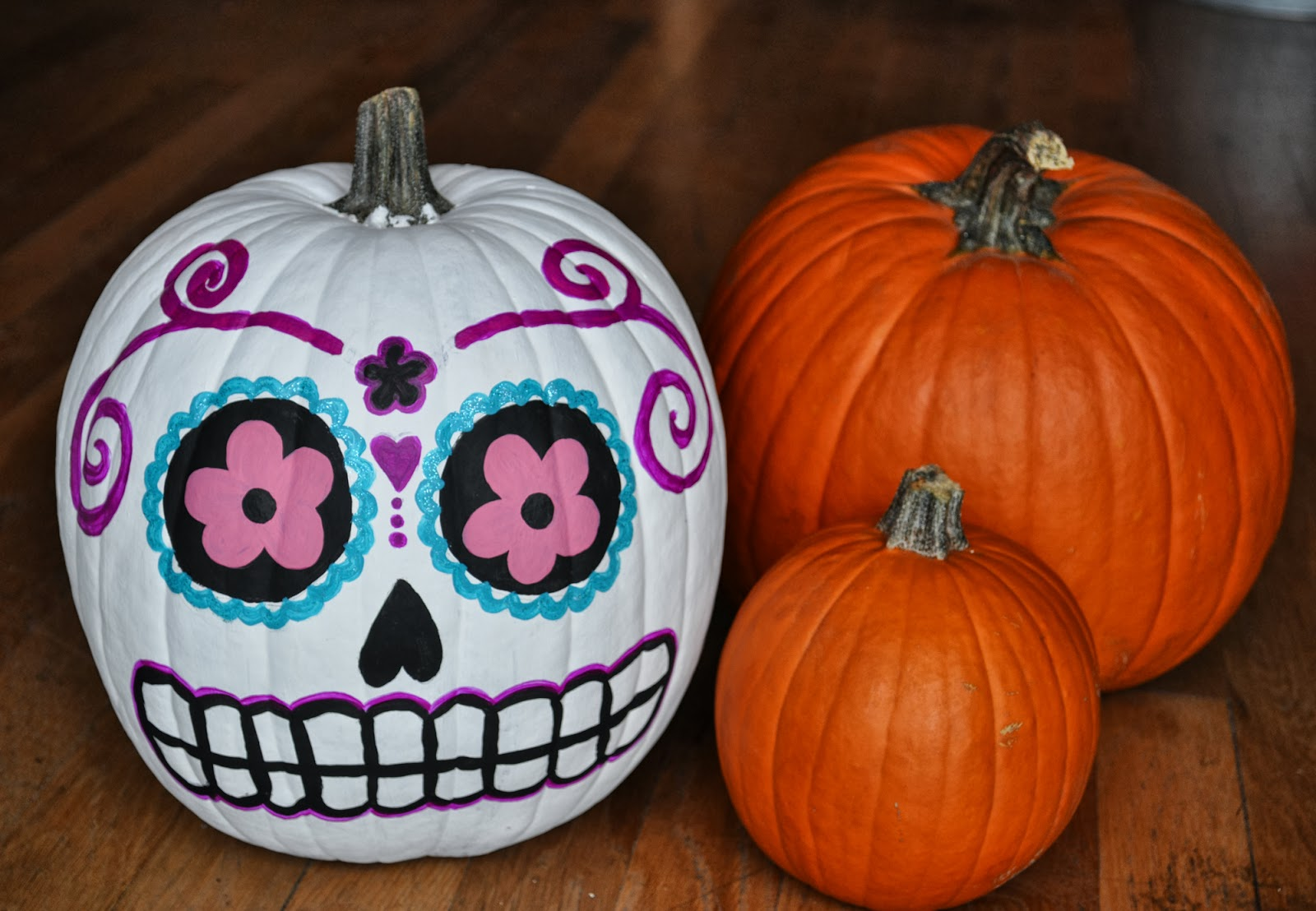Day Of The Dead Painted Pumpkin