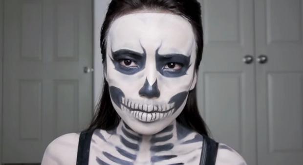 Gallery For &gt Halloween Skeleton Costume Makeup - Skeleton Halloween Costume Makeup