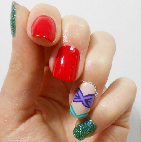 "Feeling a little ""under the sea""? Try this mermaid-inspired mani. It's Ariel approved."