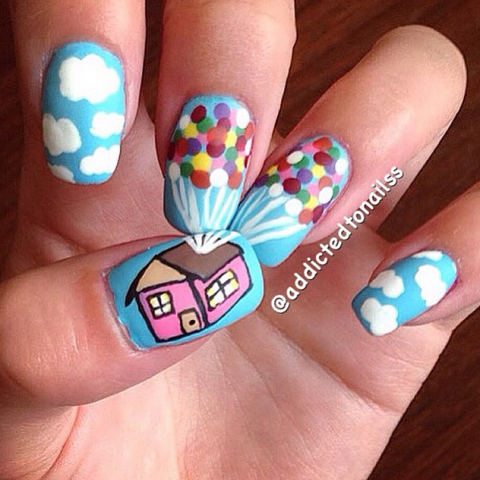 The sky is the limit with this breezy mani ? plus, your kids will be super impressed.