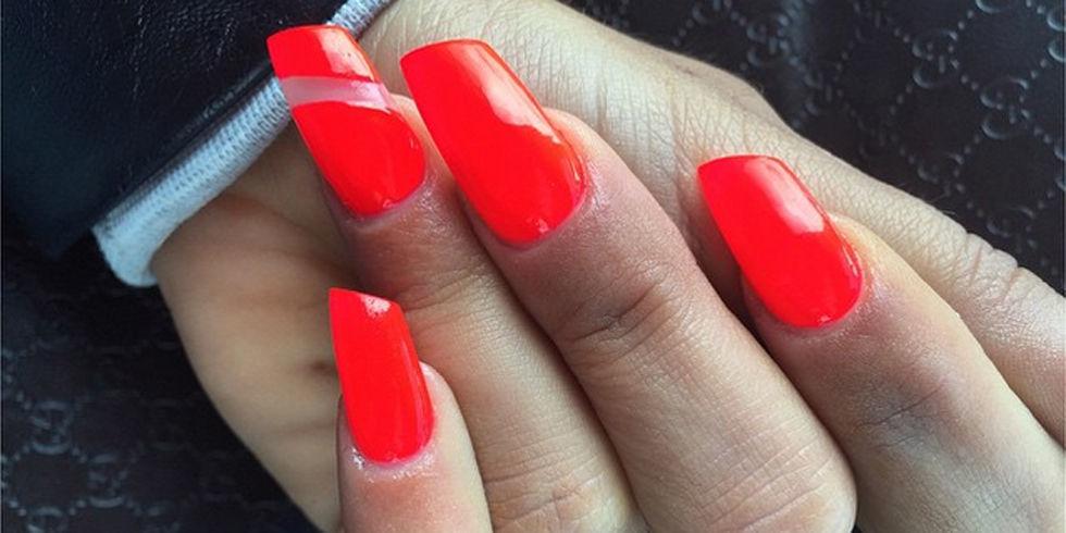 Lipstick Shaped Nails