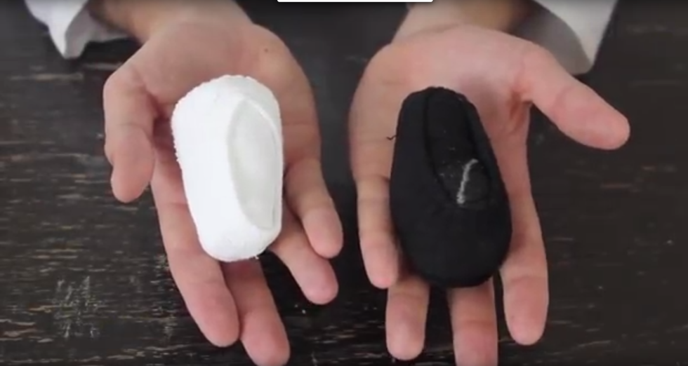Those little dumpling shapes are actually a pair of socks — the Youtuber who demonstrates the idea claims the technique is used by the military. This method doesn't waste any space, and you'll cut down on lost mates. Get the tutorial at Lifehacker »