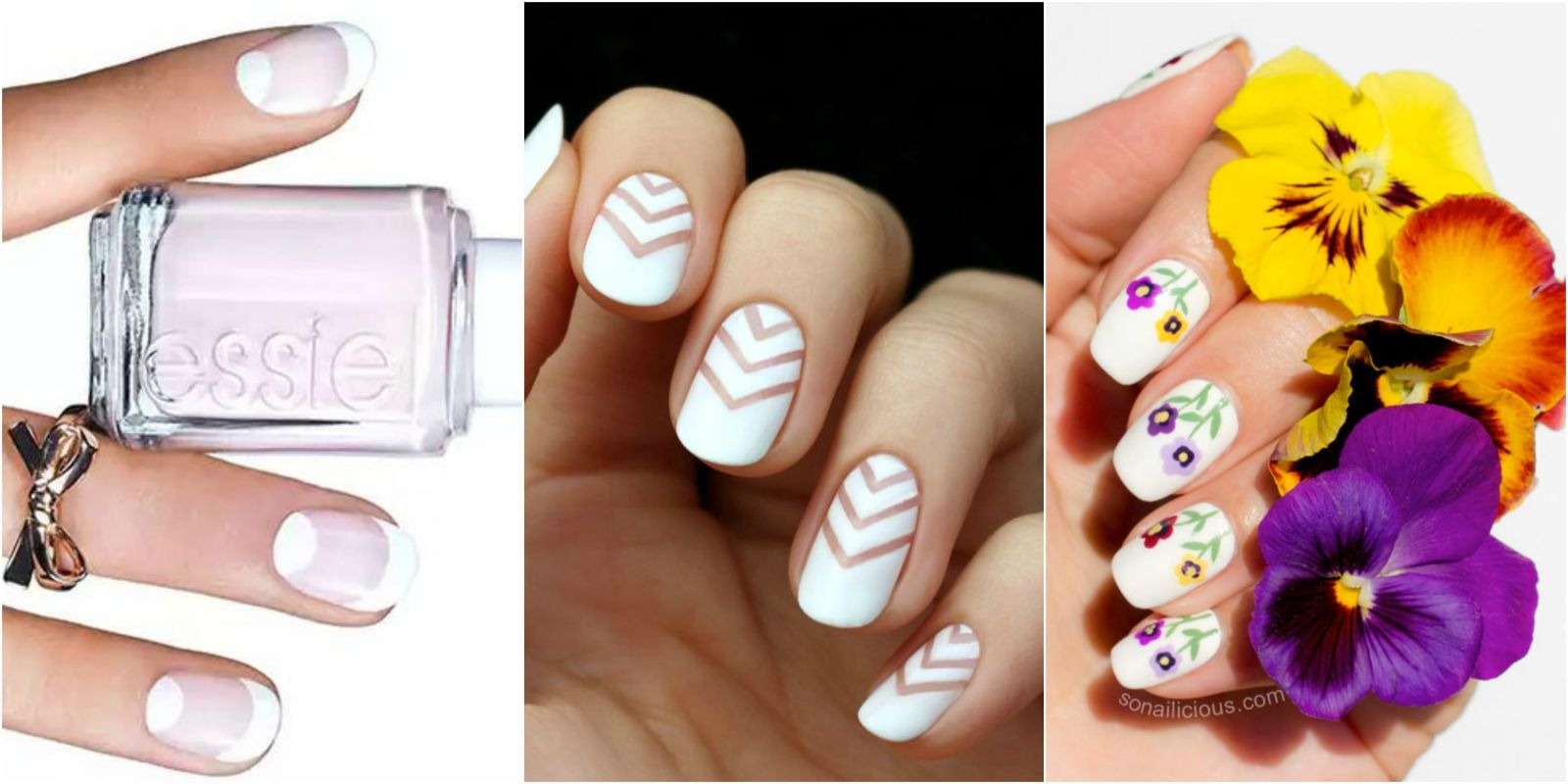 15 white nail art designs white manicure tutorials prinsesfo Image collections
