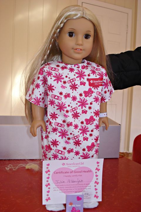 Julie hospital gown. Lea Clark American Doll Debut   13 Facts You Didn t Know About